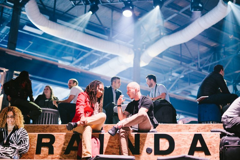 Man and woman on a braindate at C2 Montreal 2019