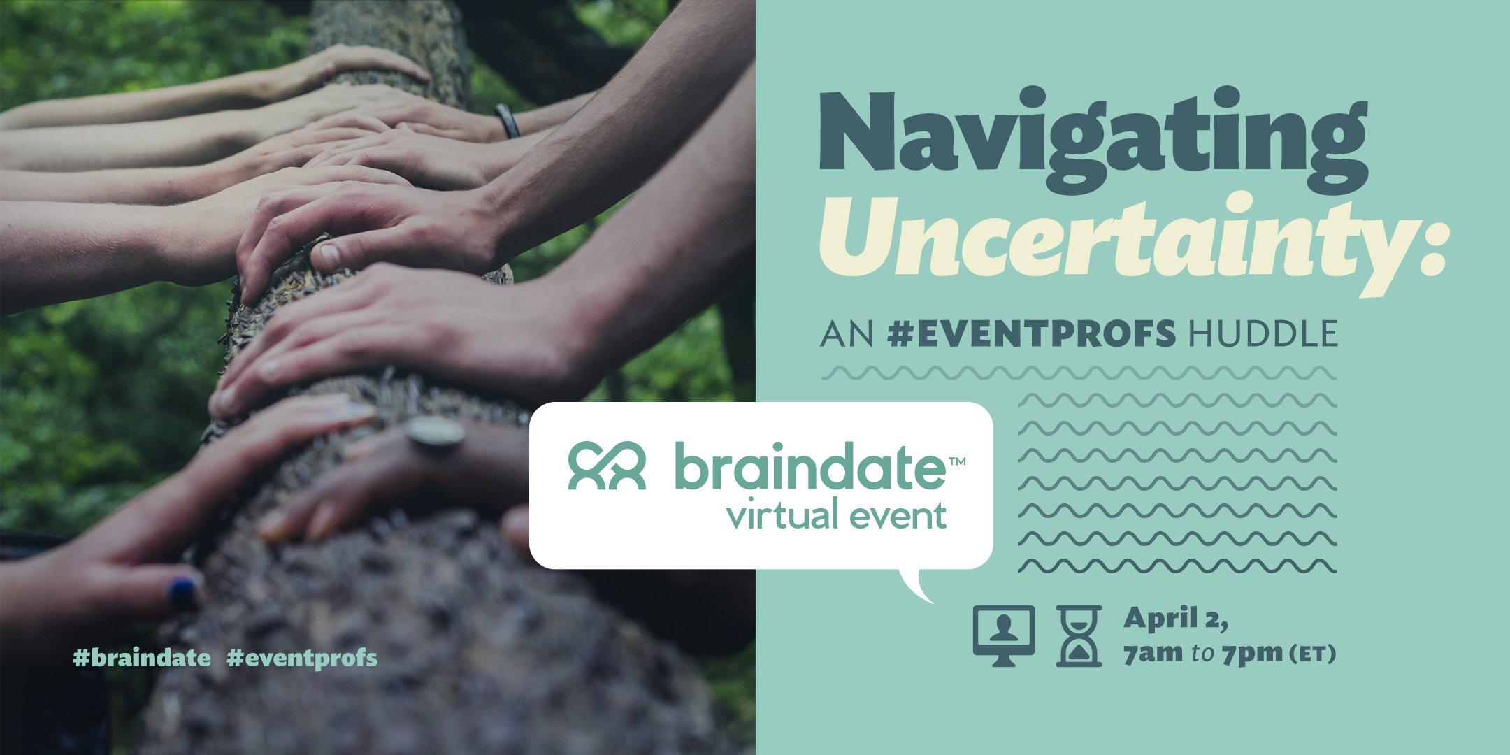 Virtual Event: Free Virtual Braindate Event for Event Professionals